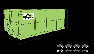 20 yard dumpster rental transparent background